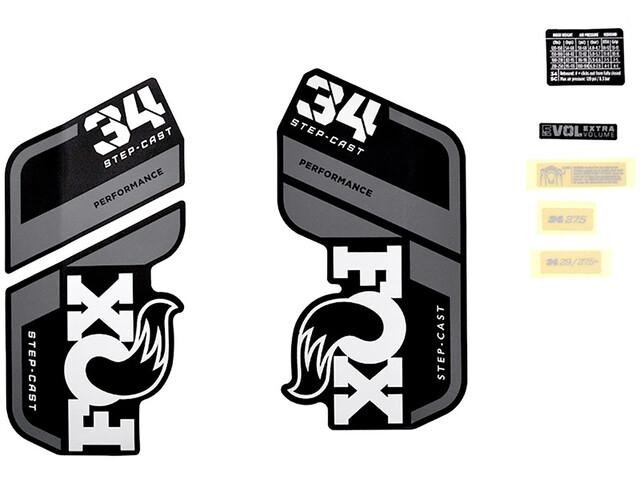 Fox Racing Shox Decal Kit for 34 SC P-S, negro/gris